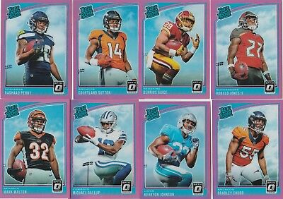 2018 Donruss Optic Football U-Pick Complete Your Set Rated Rookie Pink 150-199