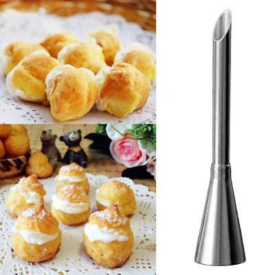 2PCS Stainless Steel Piping Nozzles Tips Cake Puffs Ice Cream Puff Baking Tools