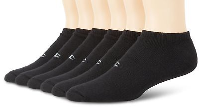 Champion Men's 6 Pack No Show Sock, Black, 6-12