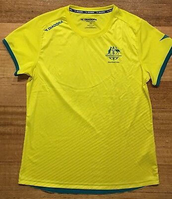 Aus Commonwealth Games Gold Coast 2018 Diadora Rugby 7's Player Issue Jersey Top