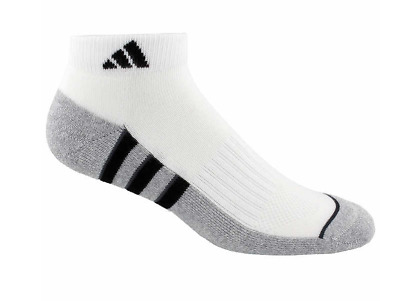 Adidas Men's Climalite Low Cut 6-pair Socks Extended Size XL or REG L White GOLF