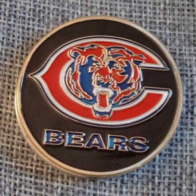 NFL Chicago Bears Poker Chip Card Guard Challenge Coin Golf Marker