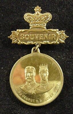 1910 King George V and Queen Mary Coronation Souvenir Medal Great Britain