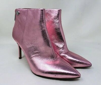 Louise et Cie Women's Sonya Pointy Toe Bootie Size 7 Pink Leather MSRP $150