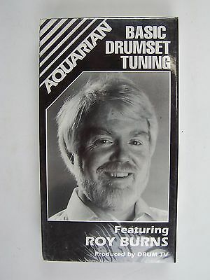 Basic Drumset Tuning VHS Video Tape Roy Burns New Sealed