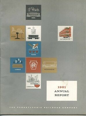 The Pennsylvania Railroad Company Annual Report 1961 with Statistical Tables 66p
