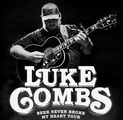 2 Tickets Luke Combs 06/15 Bank of New Hampshire Pavilion Gilford NH & Card