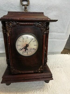(38)      Wooden French Style Carriage Clock With Quartz Movement