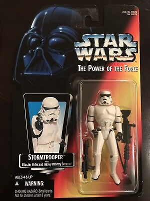 Kenner Star Wars Power of the force Stormtrooper Red Card...
