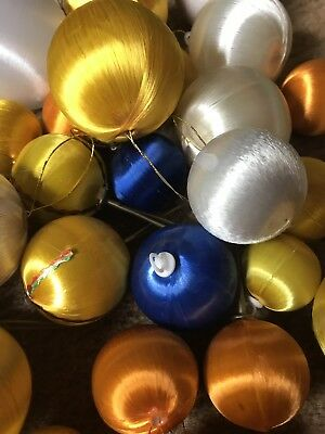 Vintage 1970's Christmas Tree Silky Balls Baubles