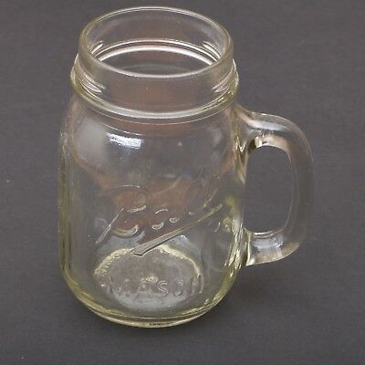 Clear Glass Ball Drinking Mason Mug Jar Tumbler