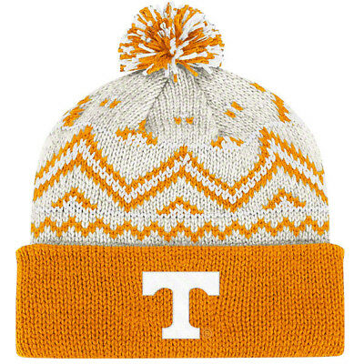 601f0410 TENNESSEE VOLS KNIT Beanie Hat Ski Cap NCAA Cuffed Winter Sweater Pom Toque  NWT