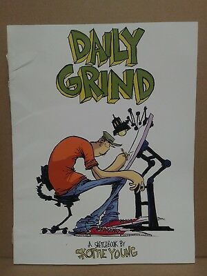 """Rare Skottie Young """"Daily Grind"""" (2014) Sketch Book Signed Reader Copy 100 Pages"""