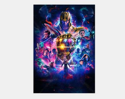 2019 Avengers 4 End Game Movie Captain Marvel - 20x30 24x36 48x32 Poster Y-76