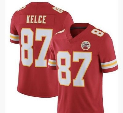 NWT Men's Travis Kelce Jersey #87 Kansas City Chiefs Stitched Red