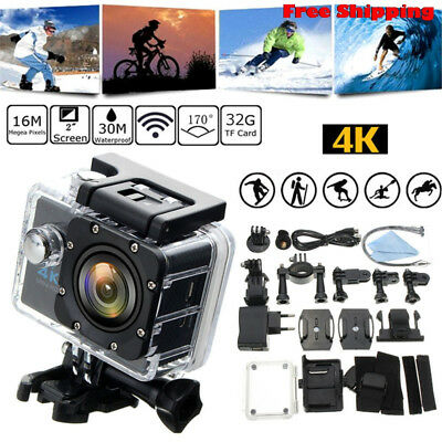 4K SJ9000 Wifi HD 1080P Waterproof Ultra Sports Action Camera DVR Cam Camcorder.