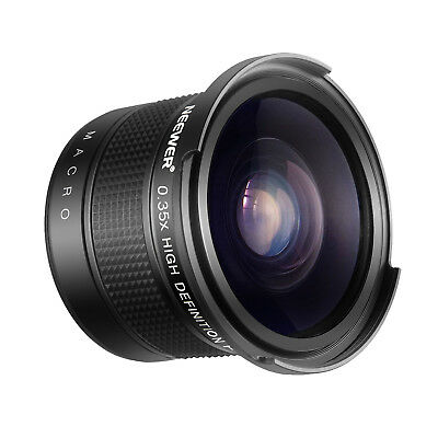 Neewer 58mm 0.35X Fisheye Wide Angle Lens with Macro Close-Up Portion for Canon