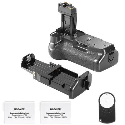 Neewer Battery Grip with Battery and Remote Control for Canon 550D 600D 650D