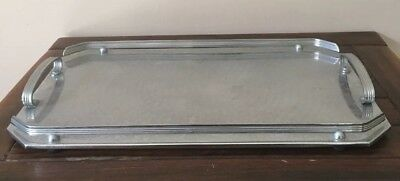 vintage ranleigh stainless steel drinks serving tray rectangular shaped VGC