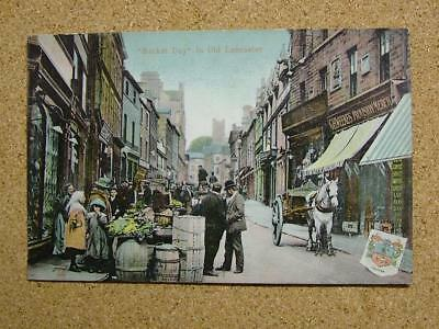 1911 Postcard Market Day In Old Lancaster,Lancashire.