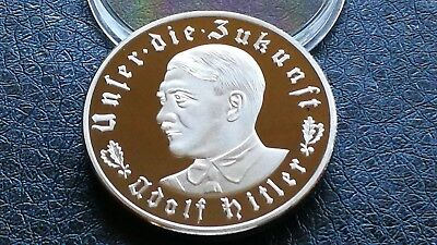 Collectable Silver Plate 1933 Third Reich Party Adolf Hitler Commemorative Coin