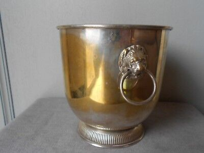 Vintage French Silver Plated CHAMPAGNE Ice BUCKET cooler - MEDICIS -