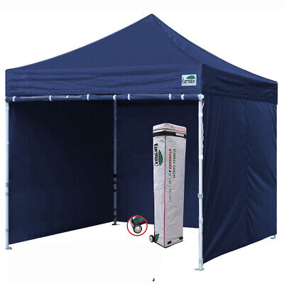 10x10 Navy Blue Ez Pop Up Canopy Outdoor Instant Shelter Tent w/ Side Walls