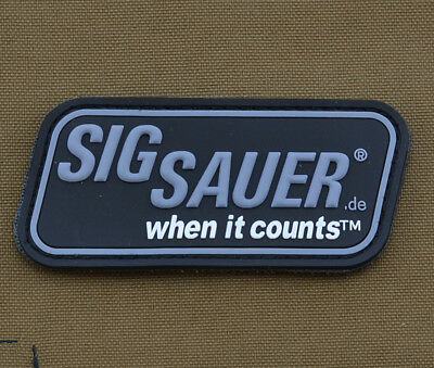 """PVC / Rubber Patch """"Sig Sauer"""" with VELCRO® brand hook"""
