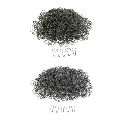 1000 Pcs Metal Calabash Safety Pins Gourd Pear Bulb Shape Pin Tag Fastener