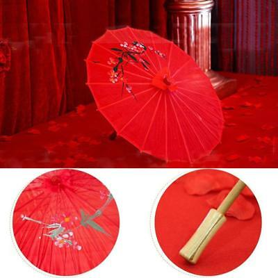 Chinese Classic Oil Paper Umbrella Floral Parasol Photo Dance Cosplay