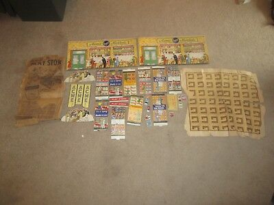Vintage 1940's Large Lot ACME Play Store Supermarket (54) Photos in Listing