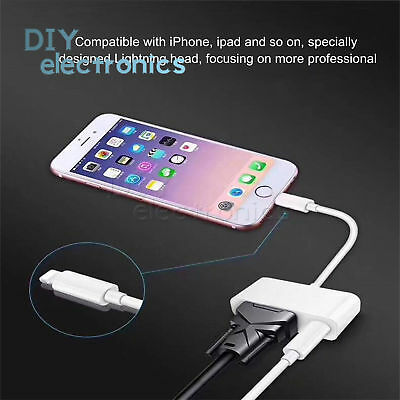 for Lightning to VGA/HDMI Digital AV Cable Adapter Apple iPhone 6 7 8 iPad US