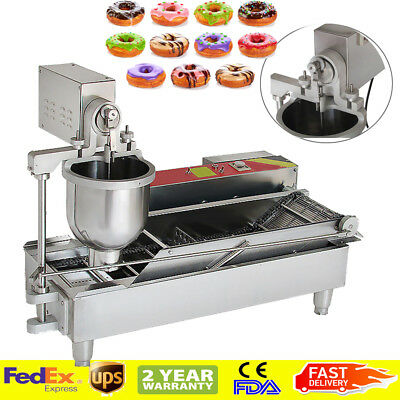 Commercial Automatic Electric Donut Making Machine Donut Fryer 3 size outlet FDA