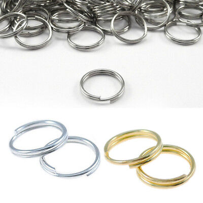 100Pcs Gold Gift Split Jump 7/8/10mm Open Connectors Double Silver Metal Rings