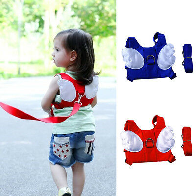 Baby Kids Toddler Angle Wing Walking Harness Anti-lost Belt Backpack Reins Leash