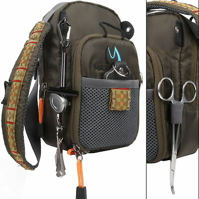 Fly Fishing Chest Pack Bag Outdoor Sports Fishing Pack Adjustable Multi-purpose