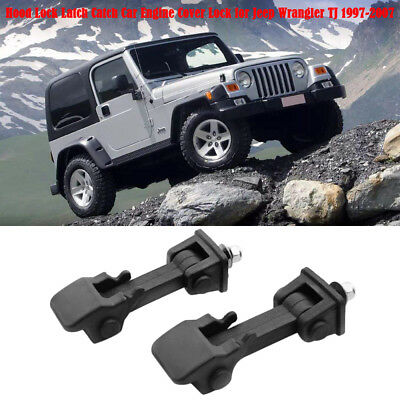 Hood Lock Latch Catch Car Auto Engine Cover Lock for Jeep Wrangler TJ 97-07 B5I7