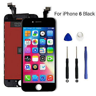 Black For iPhone 6 LCD Touch Screen Display Digitizer Replacement Genuine OEM IC
