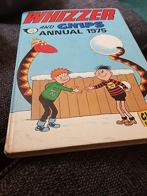 The Whizzer And Chips Annual 1975 X VERY GOOD CONDITION FOR ITS AGE X 1231 X
