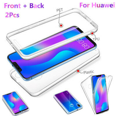 For Huawei Mate 20 P20 Pro 360° Protect Full Cover Silicone Front+PC Back Case
