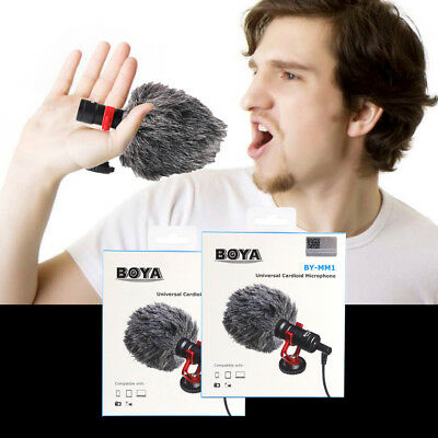 BOYA BY-MM1 Cardiod Shotgun Video Microphone MIC For Youtube Vlogging Smartphone