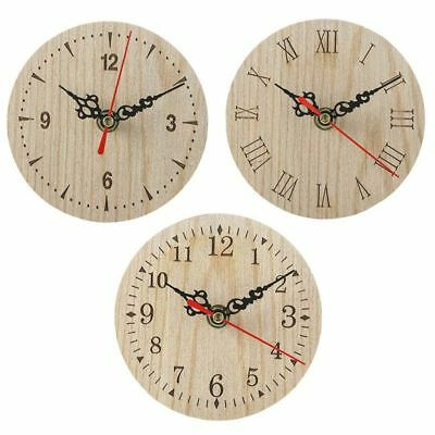 European And American Retro Round Wooden Small Clock Wall Clocks High Quality