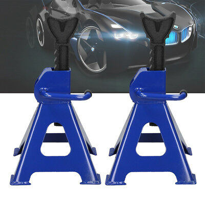 Pair Car 3 Ton Axle Stands Lifting Capacity Stand Set Fast Quick Release Lift