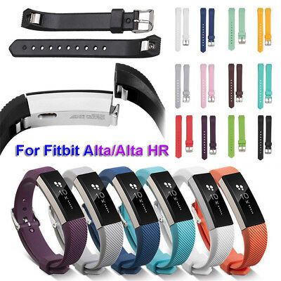 Replacement Silicone Watch Band With Buckle For Fitbit Alta and Alta HR HQ