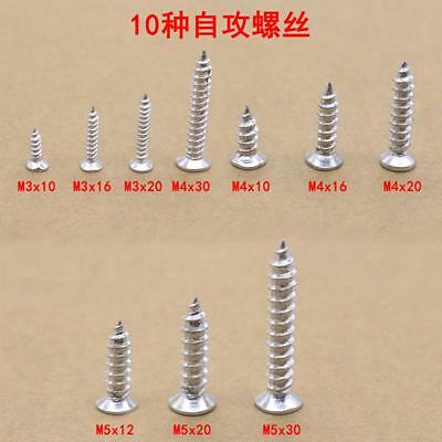 Stainless Steel 1 aBox  Pan Flat Head Self-Tapping Screws Assorted Kit New YI