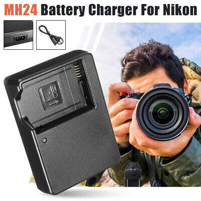 MH24 Battery Charger For Nikon EN-EL14 EL14a D5200 D5300 D3100 D3200 D3300