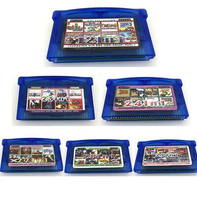BLUE - 29 IN 1 For Nintendo Gameboy GBA Game Console Card Cartridge