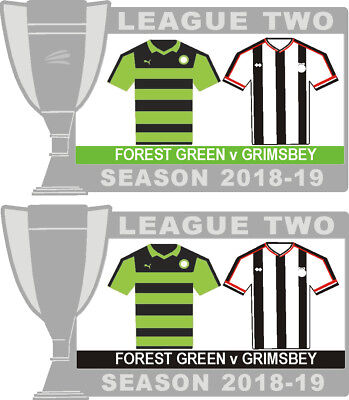 Forest Green v Grimsby League Two Matchday Badge 2018-19