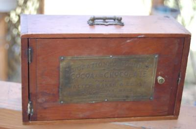 Antique Walter Baker Cocoa Chocolate Educational Exhibit Wood Box Dorchester Ma.