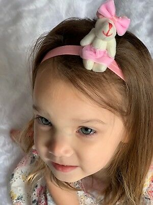 Baby Girl Headbands Bunny Easter With Bow Headband Newborn Toddler Girls Hairbow